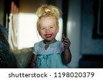 happy childhood concept. girl...   Shutterstock . vector #1198020379
