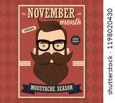 no shave november poster design ... | Shutterstock .eps vector #1198020430