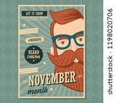 no shave november poster design ... | Shutterstock .eps vector #1198020706