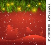 christmas background with... | Shutterstock .eps vector #1198021213