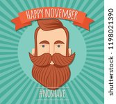 no shave november poster design ... | Shutterstock .eps vector #1198021390