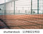 net in a padel court with... | Shutterstock . vector #1198021903