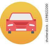 taxi isolated vector icon... | Shutterstock .eps vector #1198022200