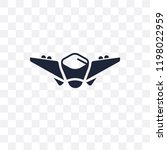 fighter plane transparent icon. ... | Shutterstock .eps vector #1198022959