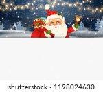 happy santa claus standing... | Shutterstock .eps vector #1198024630