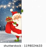 happy santa claus standing... | Shutterstock .eps vector #1198024633
