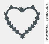 heart floral lavender frame... | Shutterstock .eps vector #1198026076