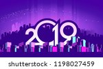 2019 calendar  vector... | Shutterstock .eps vector #1198027459