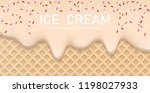 creamy liquid  yogurt cream ... | Shutterstock .eps vector #1198027933