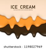 creamy liquid  yogurt cream ... | Shutterstock .eps vector #1198027969