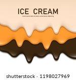 creamy liquid  yogurt cream ...   Shutterstock .eps vector #1198027969
