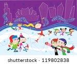 ice skating | Shutterstock .eps vector #119802838