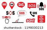 sos symbool medical logo vector ... | Shutterstock .eps vector #1198030213