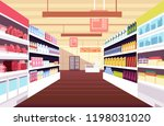 grocery supermarket interior... | Shutterstock .eps vector #1198031020