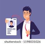 id card concept. employee man... | Shutterstock .eps vector #1198031026