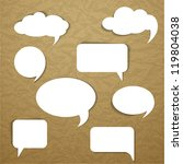 paper speech bubble | Shutterstock .eps vector #119804038