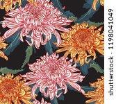 vector seamless floral pattern. ... | Shutterstock .eps vector #1198041049