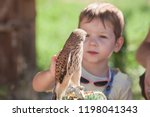 child boy with wounded lesser... | Shutterstock . vector #1198041343