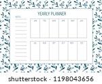 yearly goals template. vector... | Shutterstock .eps vector #1198043656