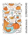 cute hand drawn vector... | Shutterstock .eps vector #1198045540