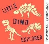 dinosaur skeleton vetor... | Shutterstock .eps vector #1198046020