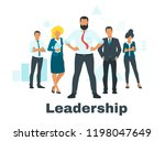 vector flat style leader...   Shutterstock .eps vector #1198047649
