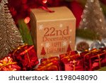 december 22th in advent...   Shutterstock . vector #1198048090