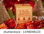 december 12th in advent...   Shutterstock . vector #1198048123