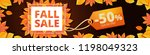 autumn final sale banner... | Shutterstock .eps vector #1198049323