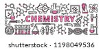 chemistry banner. outline... | Shutterstock .eps vector #1198049536