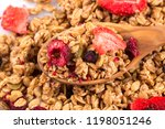 muesli cereals close up with ...   Shutterstock . vector #1198051246