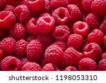 heap of ripe raspberry as... | Shutterstock . vector #1198053310