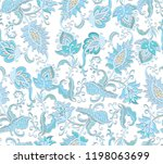 seamless ornamental vector... | Shutterstock .eps vector #1198063699