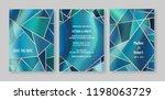 wedding geometric geode or... | Shutterstock .eps vector #1198063729