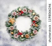 christmas or new year frame... | Shutterstock . vector #1198066246