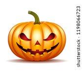 scary jack o lantern halloween... | Shutterstock . vector #1198066723
