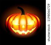 jack o lantern halloween... | Shutterstock . vector #1198066729