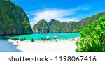 panorama beautiful nature... | Shutterstock . vector #1198067416
