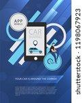 car sharing service advertising ... | Shutterstock .eps vector #1198067923