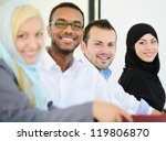 arabic people having a business ... | Shutterstock . vector #119806870