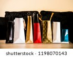 different color and size paper... | Shutterstock . vector #1198070143