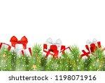 vector christmas card. holiday... | Shutterstock .eps vector #1198071916