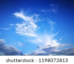blue sky with clouds  blue sky... | Shutterstock . vector #1198072813