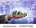 smart city in innovation concept | Shutterstock . vector #1198075180