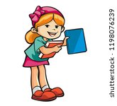 kid and book | Shutterstock . vector #1198076239