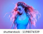 high fashion. warrior woman...   Shutterstock . vector #1198076539