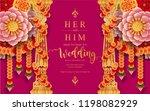 wedding invitation card... | Shutterstock .eps vector #1198082929