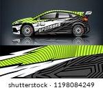 car decal wrap design vector.... | Shutterstock .eps vector #1198084249