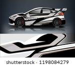 car decal wrap design vector.... | Shutterstock .eps vector #1198084279