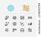 finance icons set. portfolio...